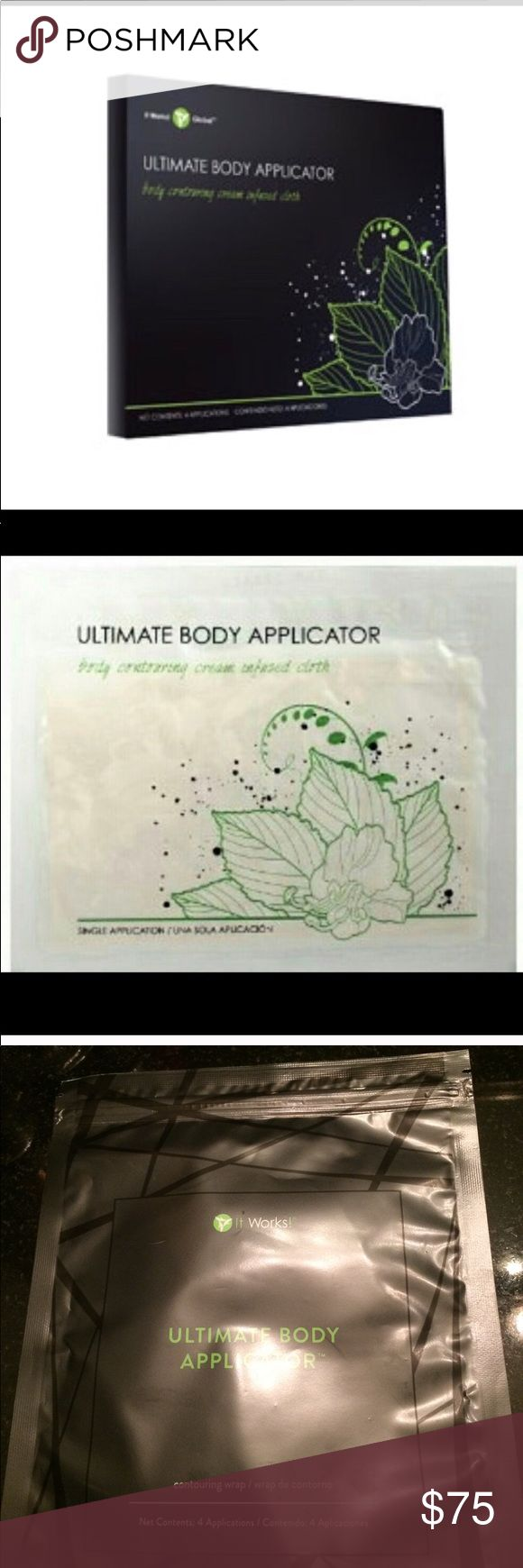 4 It works Ultimate body applicator Wraps Set of 4 wraps sealed In bag. Third picture is actual picture of item. It Works! Other