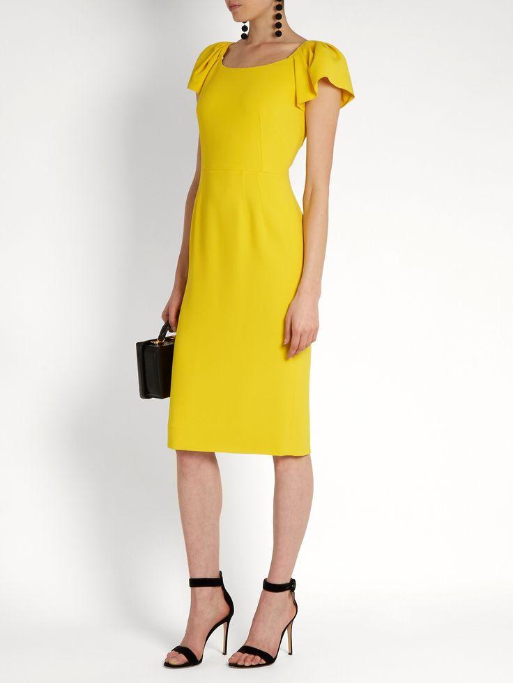 Cap-sleeved cady midi dress  | Dolce & Gabbana | MATCHESFASHION.COM UK
