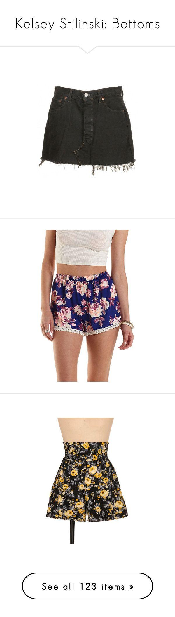 """Kelsey Stilinski: Bottoms"" by nerdbucket ❤ liked on Polyvore featuring skirts, mini skirts, bottoms, shorts, faldas, levi skirts, vintage mini skirt, denim mini skirt, vintage skirts and vintage denim skirt"