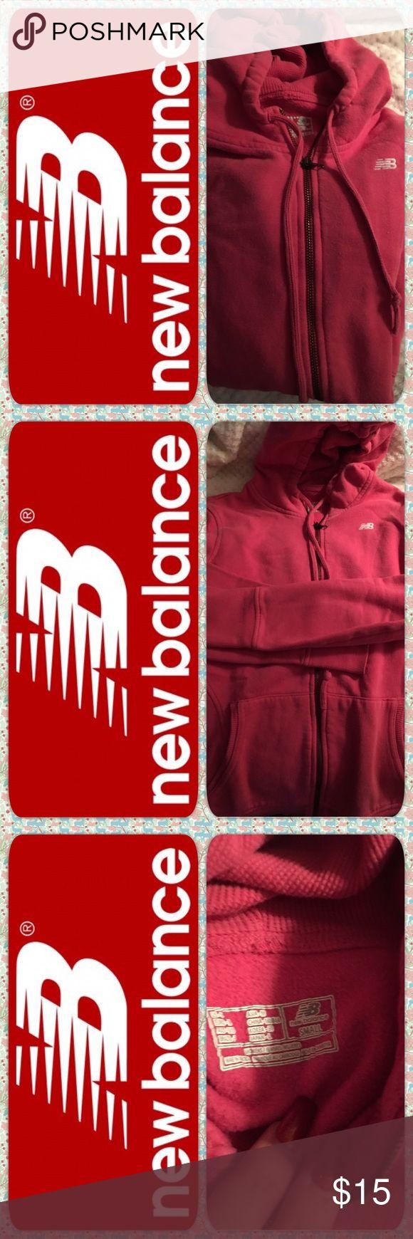 New Balance zip up hoodie sweatshirt Pink zip up sweatshirt in excellent used condition. New Balance Tops