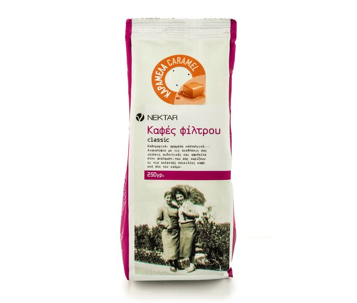 Ground coffee with the special aroma of caramel, leaves a sweet taste on the palate. Packed in protective atmosphere, just after roasting, with fragrance safety valve that allows the coffee to release gases which were trapped during roasting, while at the same time prevents the entry of air, keeping it fresh for longer.