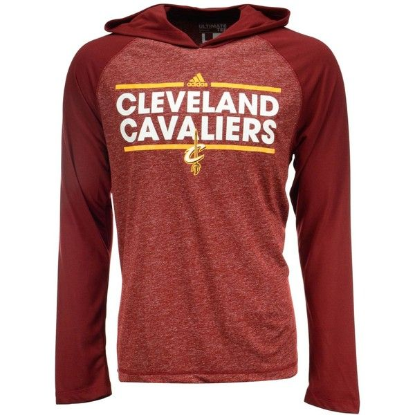 e50e556f8b57e adidas Men s Cleveland Cavaliers Dassler Climalite Hoodie ( 45) ❤ liked on  Polyvore featuring men s fashion