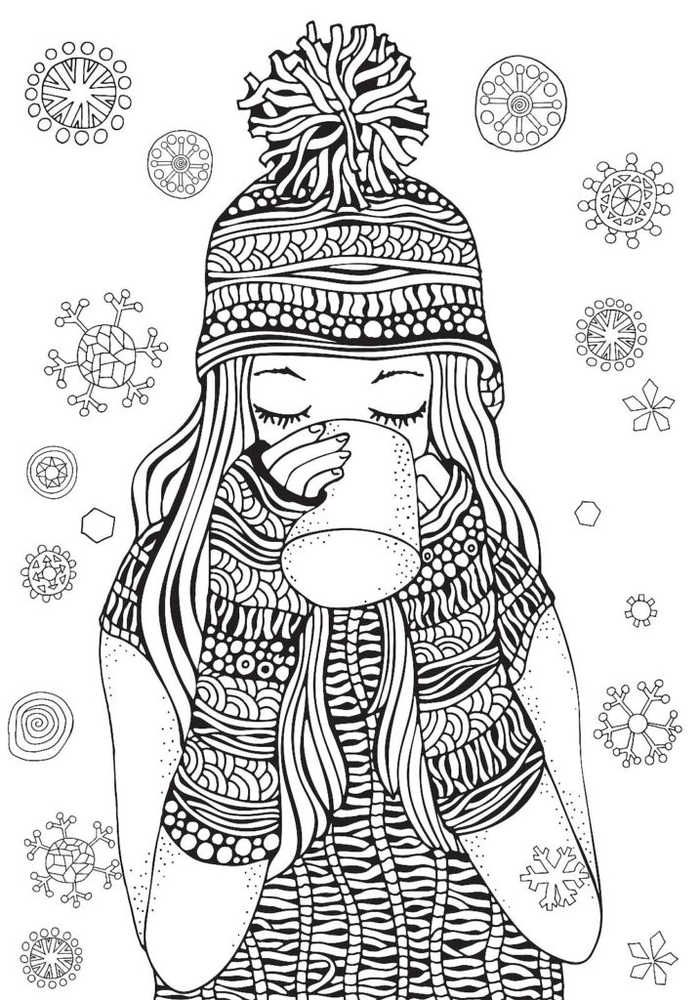 Christmas Coloring Pages Detailed Photos