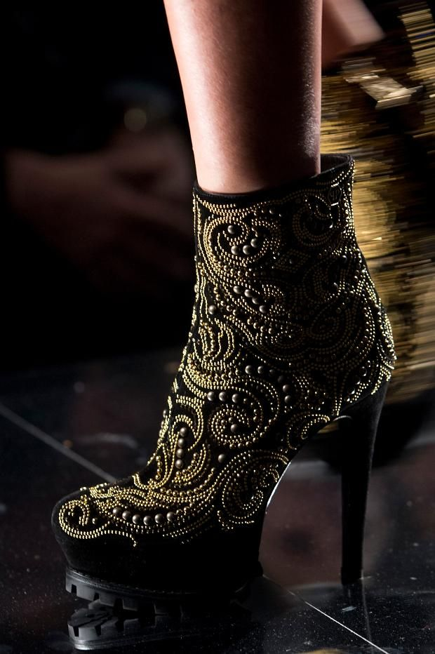 studded #boots from #PhilippPlein A/W '13 #MFW