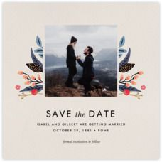 Egret Garden (Photo Save the Date) - Paperless Post