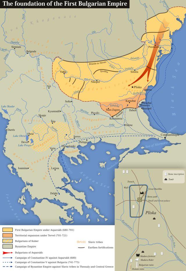 χάρτης με το κράτος του Ασπαρούχ