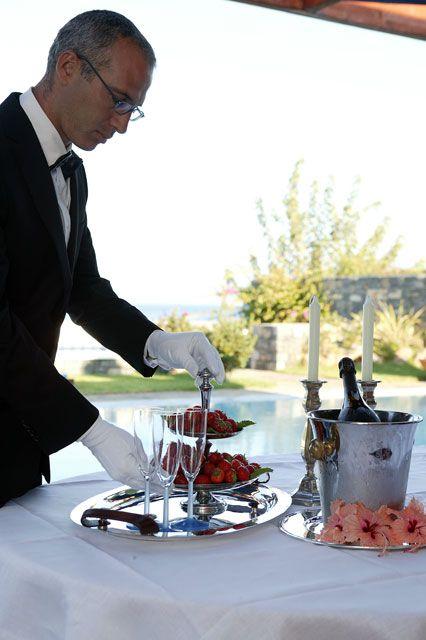 Dining : #In-room Dining at #EloundaBeachHotel #luxury #dining #crete #elounda