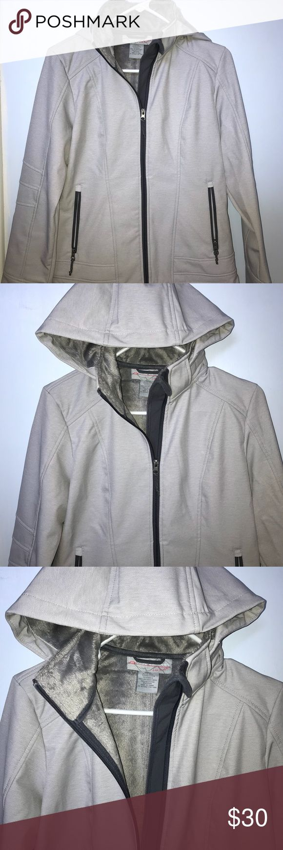 Fleece-lined Athletic Jacket Silver/grey cold weather jacket, perfect for outdoor activities. Fully lined, including hood. Never worn. Free Country Jackets & Coats