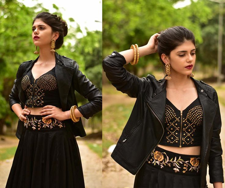 Adorning Rianta's exclusive handcrafted skirt, she looks gorgeous. Check out our entire designer collection.