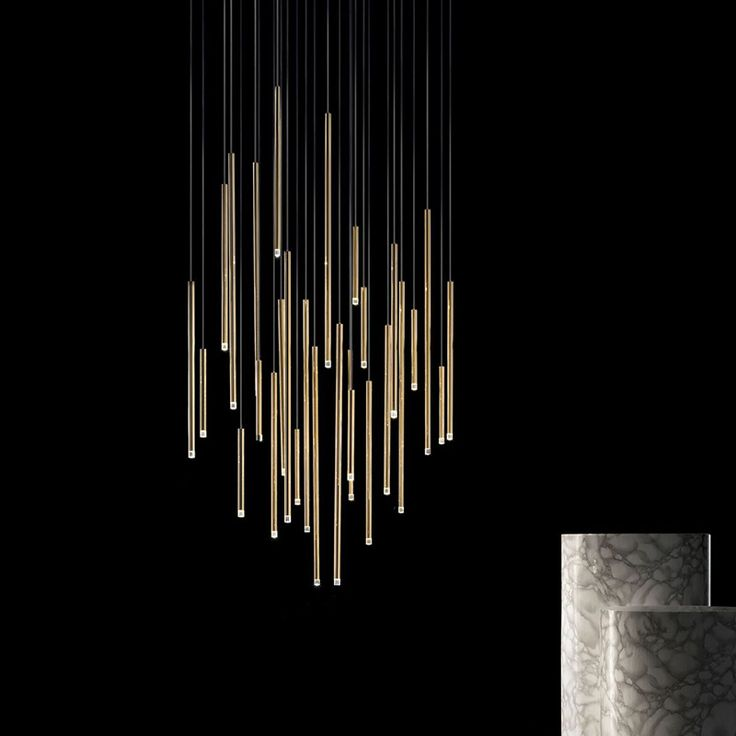 A- Tube Nano Gold Chandelier