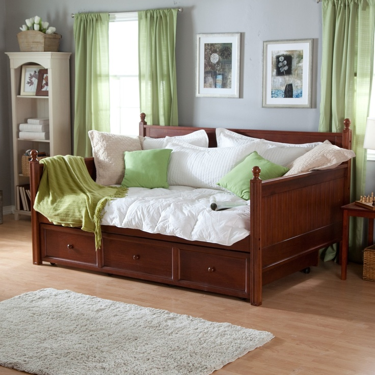 Full size daybed with optional trundle casey daybed walnut full