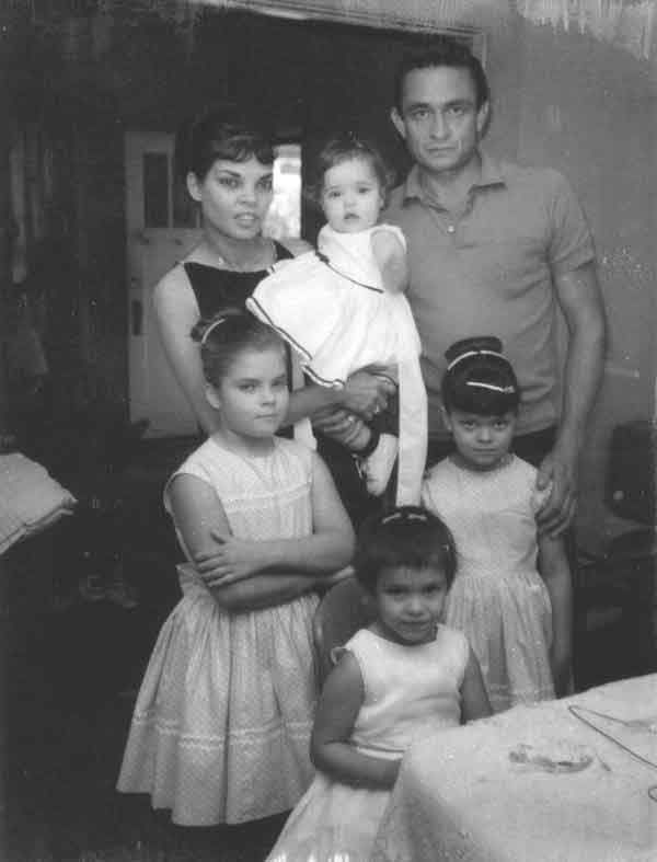 Johnny Cash June Carter Family | Vivian Dorraine Liberto - Johnny Cash and Their 4 Children