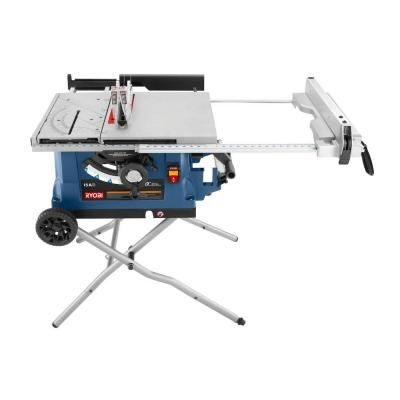 Ryobi 10 in. Table Saw with Wheeled Stand-RTS31 - The Home Depot
