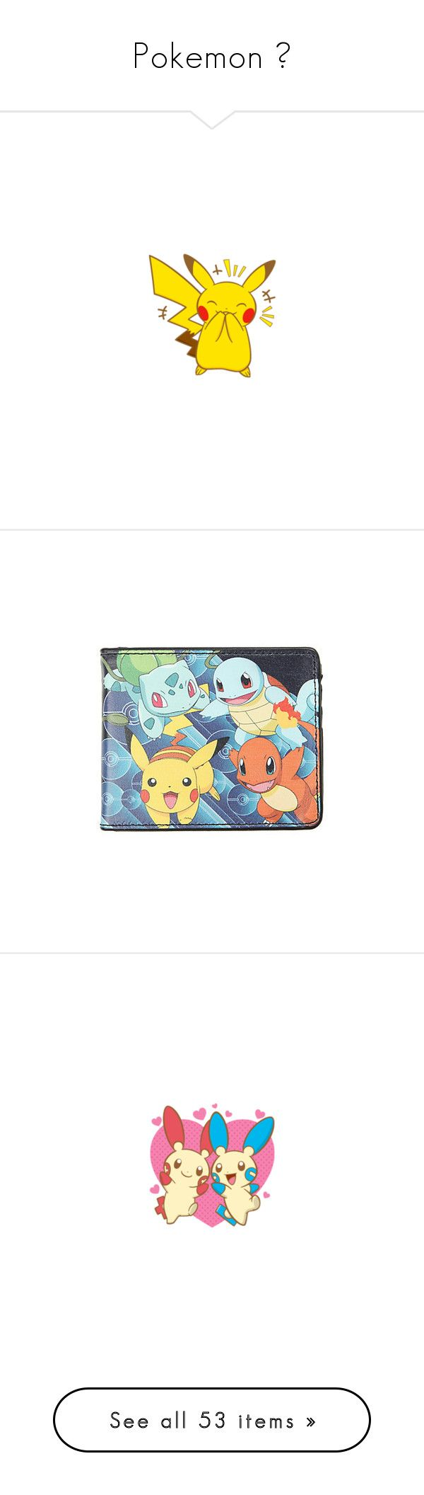 """""""Pokemon 💛"""" by addyson98 ❤ liked on Polyvore featuring bags, wallets, crystal clear bags, credit card holder wallet, clear bags, billfold wallet, hot topic, jewelry, bracelets and rubber jewelry"""
