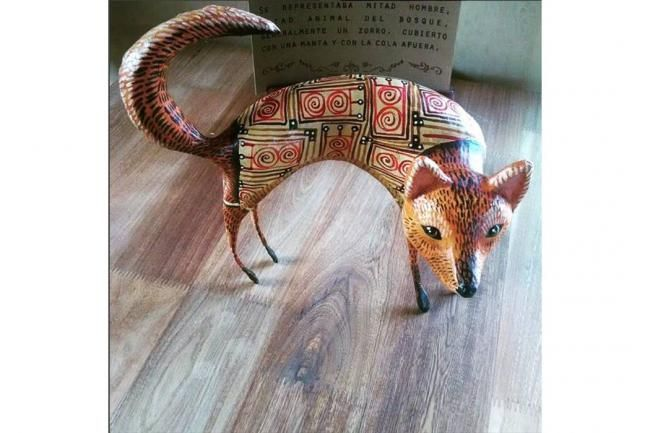 Nem Catacoa es el dios protector de los tejedores y artistas en la cultura Chibcha. Se representaba mitad hombre, mitad animal del bosque, un oso o zorro, cubierto con una manta y con la cola afuer...