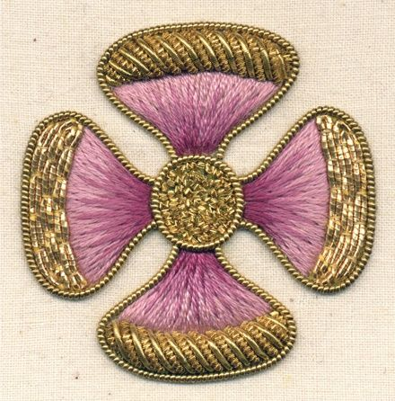 Stunning Goldwork Flower; attribution unknown