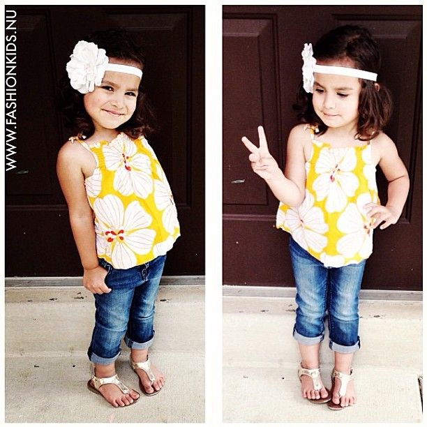 Kids Fashion | cute top, jean capris, and sandals!