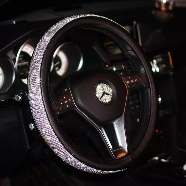 Bedazzled Steering Wheel Cover with Rhinestones