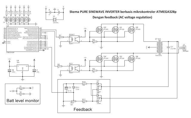 My Electronic Project Inverter Microcontroller Sema Pure Sinewave Inverter Berbasis Atmega328 Den