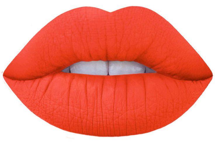 suedeberry coral orange matte liquid lipstick by Lime Crime