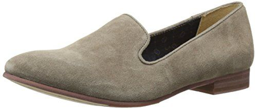 Sebago Womens Hutton Smoking Flat SlipOn Loafer Dark Taupe Suede 85 M US -- Find out more details by clicking the image