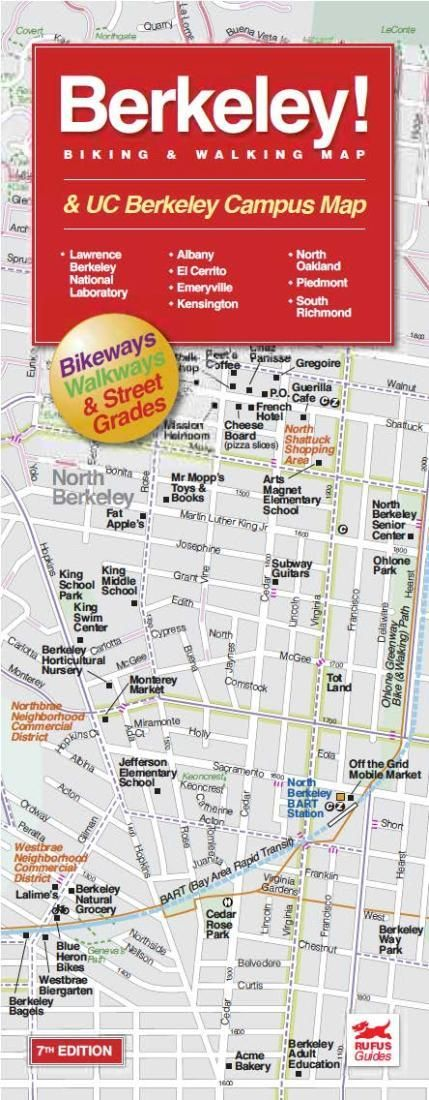 Berkeley, California Campus Area by Rufus Graphics