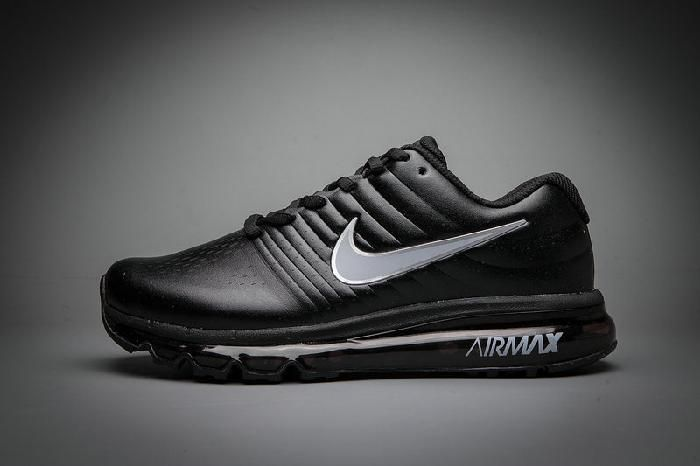 Nike Air Max 2017 Leather Black White Shoes