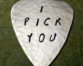 I PICK YOU Sterling Silver Guitar Pick PRIORITY Shipping. $35.00, via Etsy.