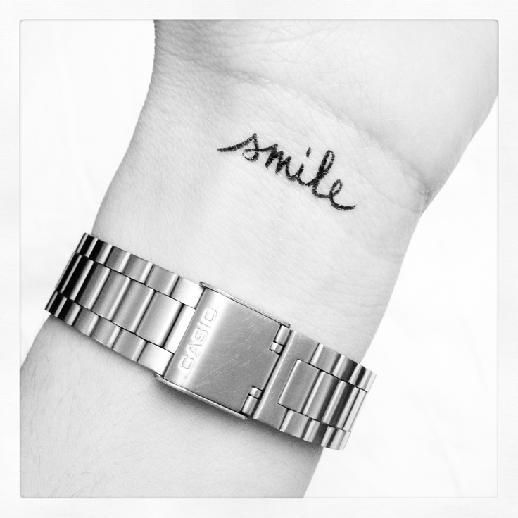 I want this tattoo because Rian Dawson told me to smile during an All Time Low signing when I was 13 and it was one of the greatest moments of my life <3