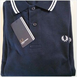 New Men's Original M1200 Fred Perry Navy Polo Shirt