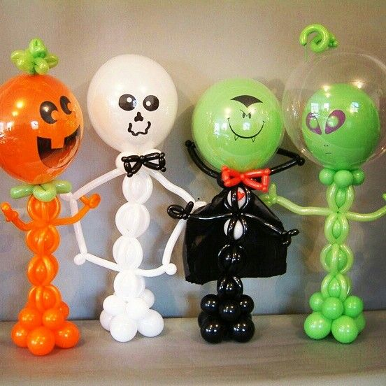 36 best halloween balloons images on pinterest balloon for Balloon decoration for halloween