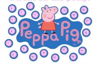 Free printable Peppa Pig Potty Charts and many other free potty training charts on this site.