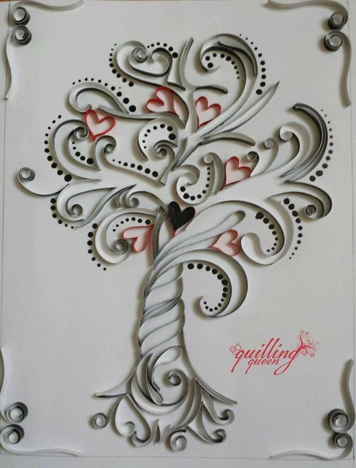 Quilling Line Art : Images about quilling hearts on pinterest