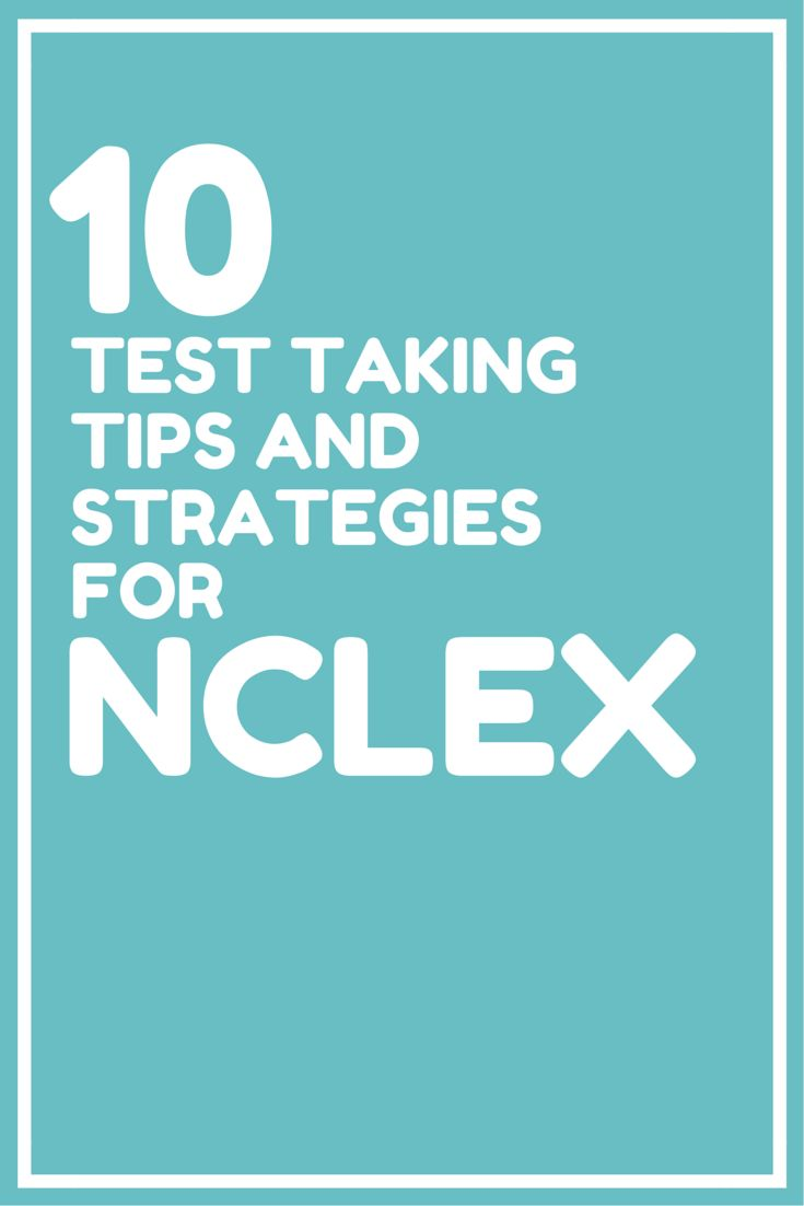 70 best images about Nursing: Exam Strategies on Pinterest ...