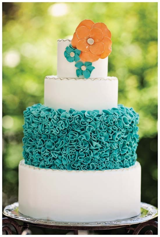 teal coloured wedding cakes 32 best teal and orange wedding colors images on 20779