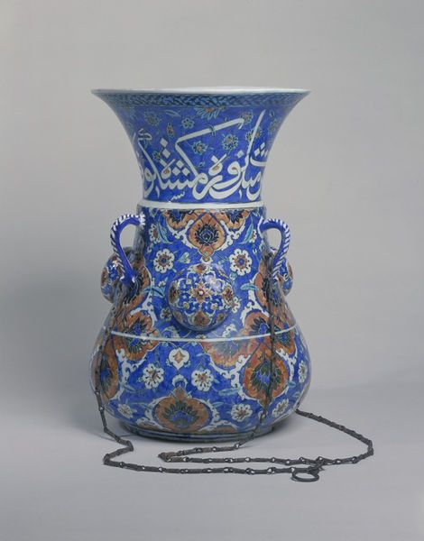 Fritware lamp made for the Süleymaniye mosque in Istanbul, Turkey, ca. 1557. l Victoria and Albert Museum #ceramics