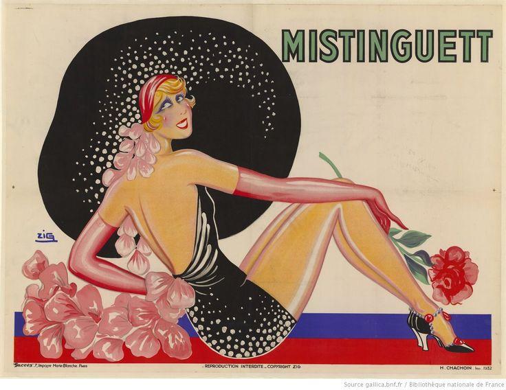 Mistinguett [avec une rose] : [affiche] / Zig