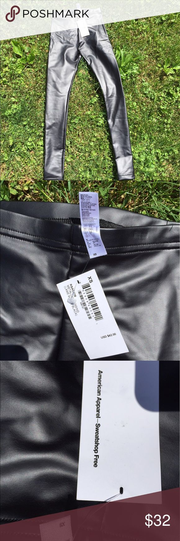 American Apparel Metallic Leggings Matte Black NEW Size XS. New with tags. 80% nylon 20% elastic. Be sure to view the other items in our closet. We offer  women's, Mens and kids items in a variety of sizes. Bundle and save!! Thank you for viewing our item!! American Apparel Pants Leggings