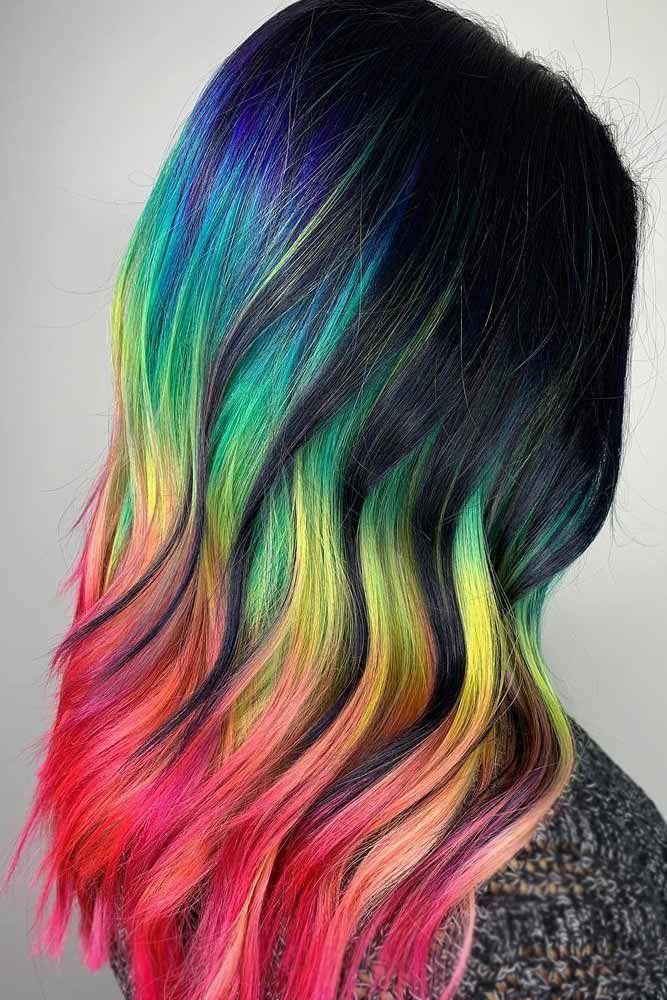 Rainbow Hair Color Ideas Find Your