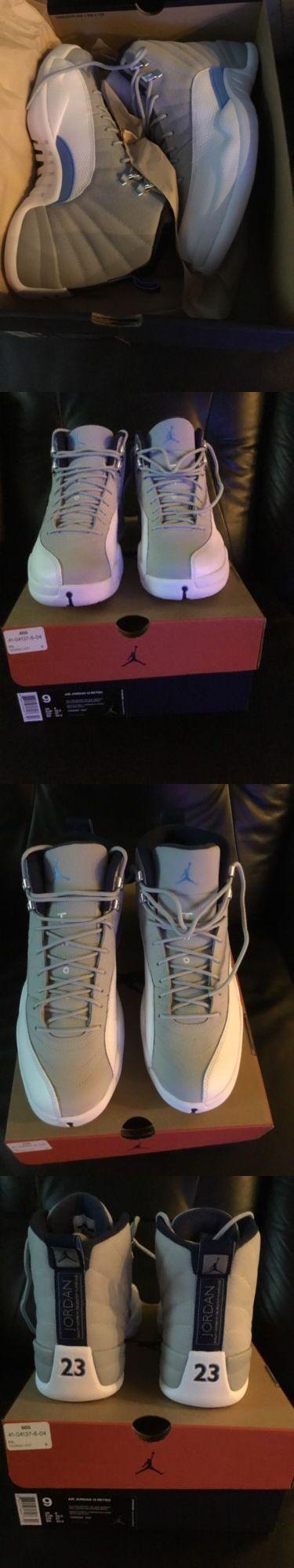 Men 158971: Mens Air Jordan Retro 12 Grey University Blue Basketball Shoes Size 9 -> BUY IT NOW ONLY: $274.99 on eBay!