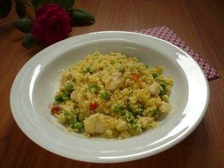 Šafránové rizoto z květákové rýže