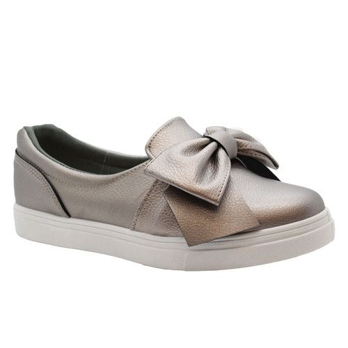 Women #GunMetal Plimsolls #Pumps Trainers Heel Height: 1.1 Inches Material: Synthetic Colours: Silver, White, Black, Gun metal Price: £9.99 only
