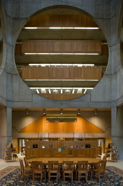 Library at Phillips Exeter Academy, Exeter NH (1965-71) | Louis Kahn | Photo © Xavier de Jauréguiberry