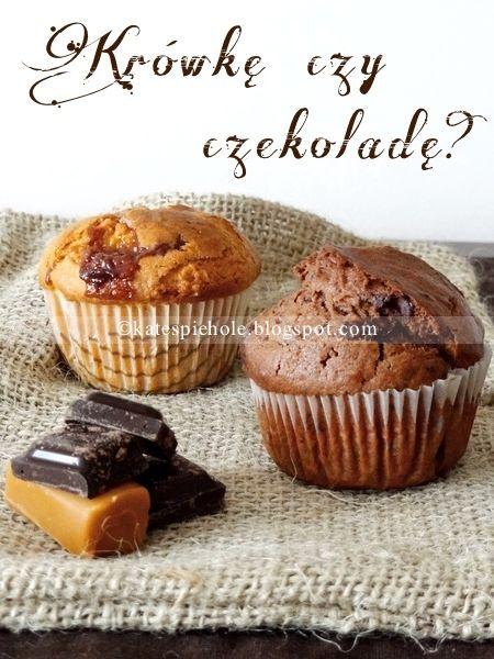 Muffiny z krówkami lub czekoladą