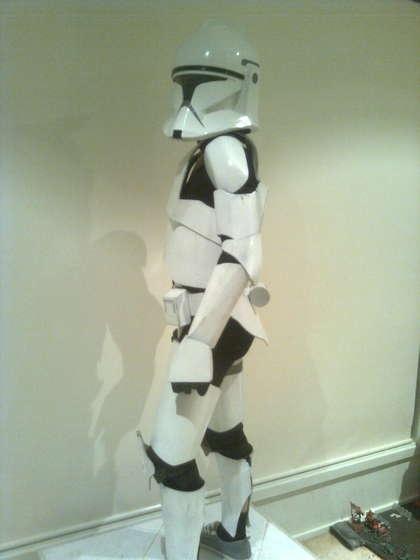 AWESOME cardboard clone trooper costume DIY