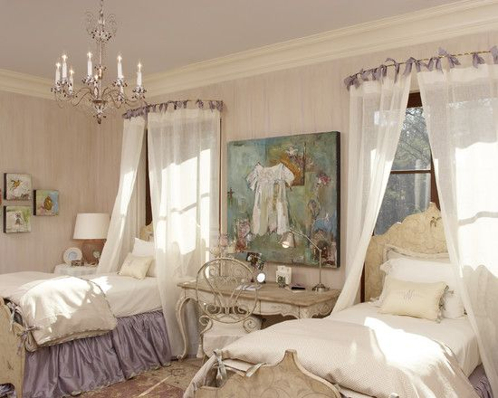 use round shower curtain rod for canopy over bed                                                                                                                                                      More