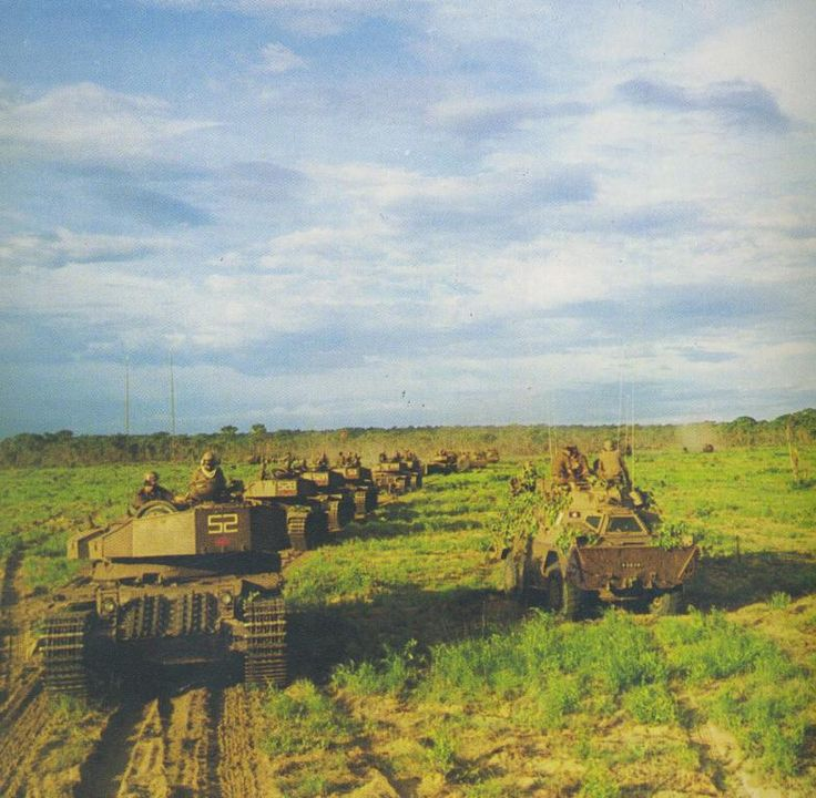 South African tanks in Angola 1988.