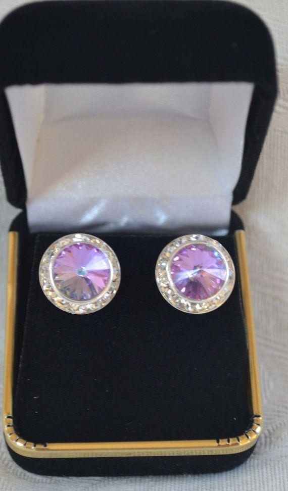 Swarovski vitrail light crystal earrings 16mm by CreativityAtPlay, $18.00