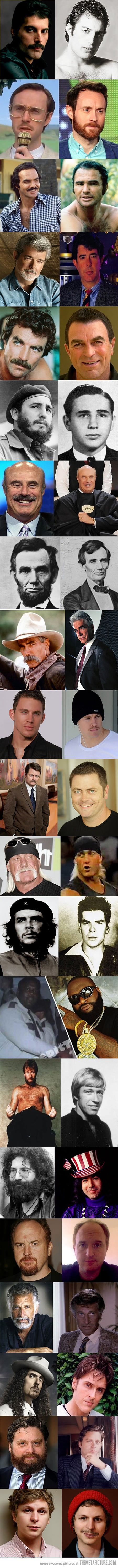 Beards can change everything… Ron Swanson was a mind blowing one and the last one is hilariously disturbing