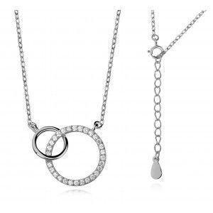 Modna biżuteria srebrna dla Kobiet Naszyjnik srebrny z cyrkoniami
